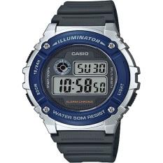 Spesifikasi Casio Digital Jam Tangan Pria Biru Strap Karet W 216H 2A Paling Bagus