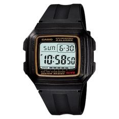 Spesifikasi Casio Digital Jam Tangan Pria Hitam Strap Karet F 201Wa 9A Murah Berkualitas