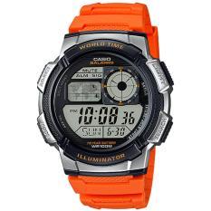 Ongkos Kirim Casio Digital Jam Tangan Pria Orange Strap Karet Ae 1000W 4B Di Indonesia