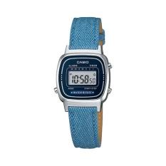 Harga Casio Digital Jam Tangan Wanita Biru Strap Kulit La 670Wl 2A2 Terbaik