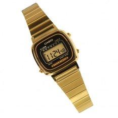 Iklan Casio Digital Jam Tangan Wanita Gold Strap Rantai La670Wga 1D