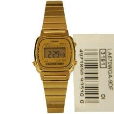 Casio Digital Jam Tangan Wanita - Gold - Strap Rantai - LA670WGA-9D