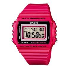 Harga Casio Digital Jam Tangan Wanita Merah Muda Strap Karet W 215H 4A Asli