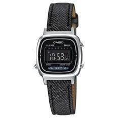 Casio Digital Jam Tangan Wanita Original - Hitam - Strap Kulit - LA-670WL-1B