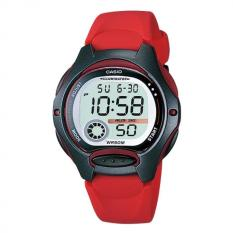 Casio Digital Jam Tangan Wanita Original - Rubber Strap - LW200AV Black Red