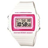 Jual Casio Digital Jam Tangan Wanita Putih Strap Karet W 215H 7A2 Grosir