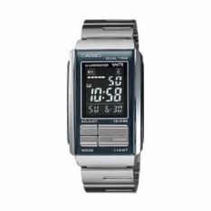 Casio Digital Jam Tangan Wanita   Silver   Strap Rantai  LA 201W 1B