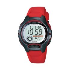 Jual Casio Digital Lw 200 4Av Sports Women S Watch Red Black Satu Set