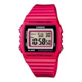 Casio Digital W 215H 4Av Unisex Watch Pink Casio Diskon 30