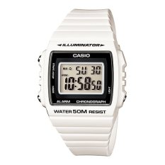 Beli Casio Digital W 215H 7Av Unisex Watch White Black Online Indonesia