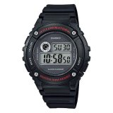 Obral Casio Digital W 216H 1Av Men S Watch Black Murah