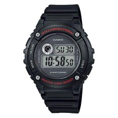 Jual Casio Digital W 216H 1Av Men S Watch Black Satu Set