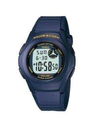 Casio Digital Watch F-200W - 2ADF - unisex watch - karet - biru