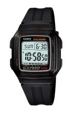 Casio Digital Watch F 201Wa 1Adf Jam Tangan Unisex Hitam Karet Casio Diskon 30