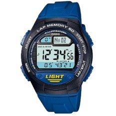 Casio Digital Watch Jam Tangan Pria Biru Strap Resin W 734 2Avdf Casio Diskon 30