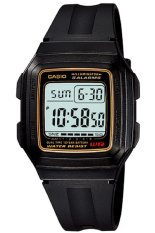 Casio Digital Watch Jam Tangan Unisex - Hitam - Karet -  F-201WA - 9ADF
