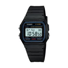 Casio Digital Watch Jam Tangan Unisex - Hitam - Resin Strap - F-91W-1DG