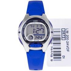 Jual Casio Digital Watch Lw 200 2Avdf Jam Tangan Wanita Resin Biru Tua Casio Grosir