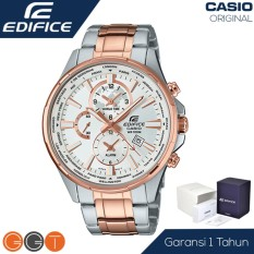 Casio Edifice Chronograph - Jam Tangan Pria - Stainless Stell - EFR 304D 1AVUDF - Black Silver