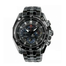 Casio Edifice Ef 550Bk Rbsp Full Black Stainless Steel Casio Edifice Diskon 40
