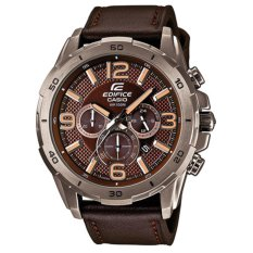 CASIO EDIFICE EFR-538L-5AV JAM TANGAN PRIA -LEATHER (BROWN)