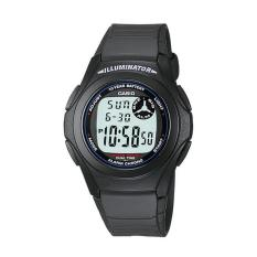 CASIO F200W1A 10Year Battery Life Sporty Black Jam Tangan Pria