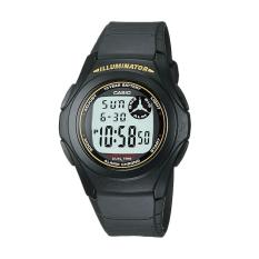 CASIO F200W9A 10Year Battery Life Sporty Jam Tangan Pria  Black Gold