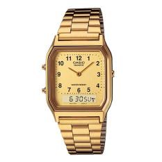 Diskon Casio Analog Digital Aq 230Ga 9Bmq Jam Tangan Unisex Gold Stainless Steel Band Casio