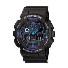 Casio G-Shock GA-100-1A2 Jam Tangan Pria Black Blue
