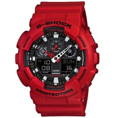 Toko Casio G Shock Ga 100B 4A Analog Digital Men S Watch Red Online Banten