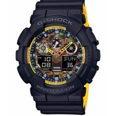 Miliki Segera Casio G Shock Ga 100By 1A Jam Tangan Pria Black Yellow Strap Resin Lm