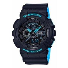 Casio G Shock Ga 110Ln 1A World Time Watch Hitam Tiongkok Diskon 50