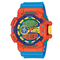 Casio G Shock Ga 400 4Aer Orange Biru Band Intl Original