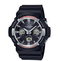 Casio G-Shock GAS-100-1ADR - Jam Tangan Pria - Black List Silver - Strap Resin