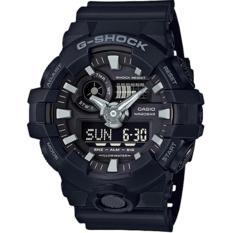 CASIO G SHOCK - Jam Tangan Pria - Hitam-Hitam - Rubber Hitam - GA-700-1BDR