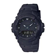 Jam Tangan Casio G-SHOCK Pria Hitam Tali Pengikat Resin G-100bb-1a-Intl