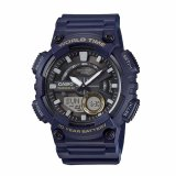 Tips Beli Casio Umum Pria Watch Blue Resin Band Aeq 110W 2A 100 M Waktu Dunia Digital Analog Olahraga Watch Intl