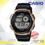 Harga Casio Illuminator Ae 1000W 1A3Vdf Jam Tangan Pria Tali Karet Digital Movement Black Gold Dan Spesifikasinya