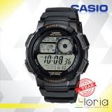 Harga Casio Illuminator Ae 1000W 1Avdf Jam Tangan Pria Tali Karet Digital Movement Hitam Dan Spesifikasinya