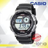 Beli Casio Illuminator Ae 1000W 1Bvdf Jam Tangan Pria Digital Movement Ruber Strap Hitam Silver Kredit Jawa Timur