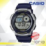 Spesifikasi Casio Illuminator Ae 1000W 2Avdf Jam Tangan Pria Digital Movement Ruber Strap Biru Bagus