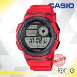 Toko Casio Illuminator Ae 1000W 4Avdf Jam Tangan Pria Tali Karet Digital Movement Red Online Di Jawa Timur