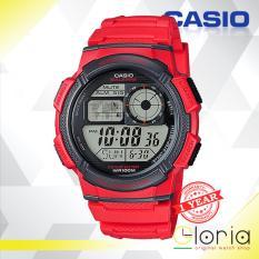 Jual Beli Casio Illuminator Ae 1000W 4Avdf Jam Tangan Pria Tali Karet Digital Movement Red Baru Jawa Timur