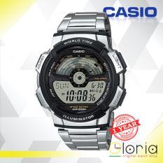 Casio Illuminator Ae 1100Wd 1Avdf Jam Tangan Pria Tali Logam Stainless Stell Digital Movement Silver Hitam Jawa Timur