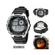 CASIO Illuminator AE-2100W-1AVDF - Jam Tangan Pria - Resin Strap - Digital