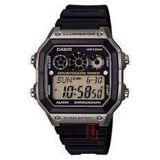 Casio Illuminator Countdown Timer D44H330AE1300WHHTMA Digital Jam Tangan Pria Rubber Strap