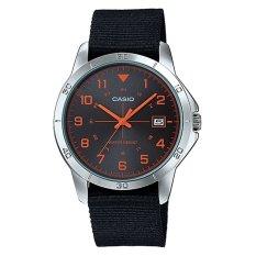 Spesifikasi Casio Jam Tangan Analog Pria Hitam Strap Nylon Mtp V008B 1Budf Yang Bagus Dan Murah