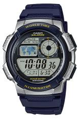 Casio Jam Tangan Pria AE-1000W-2AVDF- Biru Silver - Karet