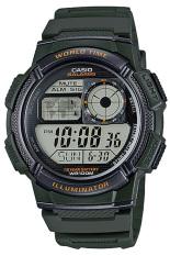 Casio Jam Tangan Pria AE-1000W-3AVDF- Hijau Dark - Karet