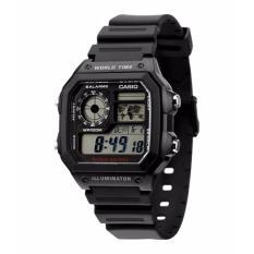Casio Jam Tangan Pria AE-1200WH-1AVDF - Hitam - Karet